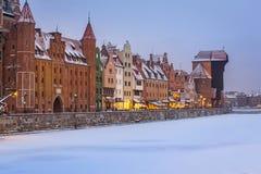 格但斯克老波兰城镇 图库摄影