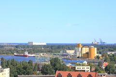 格但斯克视图,货物区段 库存照片