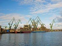 格但斯克造船厂 库存照片