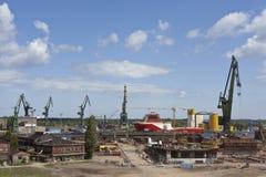 格但斯克造船厂 免版税库存照片