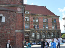 格但斯克,波兰威严25 :历史建筑(波兰的国家银行)在从波兰的格但斯克 库存图片