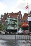 格但斯克,波兰威严25 :格但斯克港口从波兰的 免版税库存照片