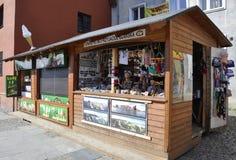 格但斯克,波兰威严25 :纪念品报亭街市在从波兰的格但斯克 免版税库存图片