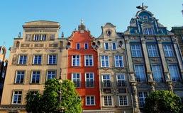 格但斯克,波兰:巴洛克式的豪宅 免版税库存照片