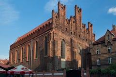 格但斯克,波兰- 2014年6月07日:圣尼古拉斯教会的看法 免版税库存图片