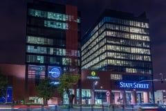 格但斯克,波兰- 2017年10月11日:现代大厦建筑学 免版税库存照片