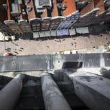 格但斯克,波兰- 2017年8月04日:在o的都市风景鸟瞰图 免版税图库摄影