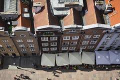 格但斯克,波兰- 2017年8月04日:在o的都市风景鸟瞰图 免版税库存图片