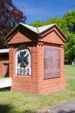 格但斯克,波兰- 2017年5月22日:波兰邮局的38个防御者坟场在格但斯克14个小时 免版税库存照片