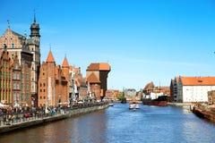 格但斯克,波兰- 2014年5月03日:维斯瓦河看法  库存图片