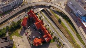 格但斯克,顶视图联邦政府大厦  影视素材