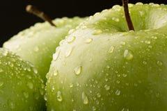 格兰尼史密斯苹果・ Apple特写镜头  免版税图库摄影