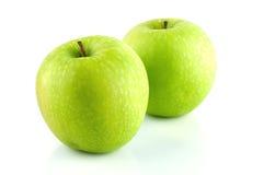格兰尼史密斯苹果苹果。 库存图片