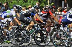 格兰披治Cycliste de蒙特利尔 库存照片