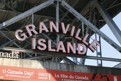 格兰维尔市场标志 市场是一个著名旅游胜地 库存图片