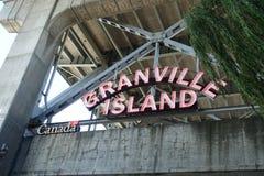 格兰维尔海岛在温哥华, BC加拿大 免版税库存图片