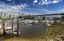 格兰维尔街桥梁在BC温哥华 库存图片