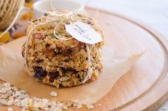 格兰诺拉麦片曲奇饼 库存照片