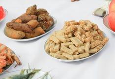 格兰诺拉麦片棒芝麻切口 健康快餐,健身食物 图库摄影