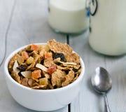 格兰诺拉麦片用干果和坚果 库存照片