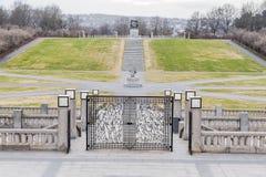 维格兰雕塑公园的一个小部分 库存图片