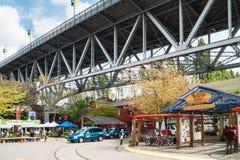 格兰维尔海岛公开市场在温哥华,加拿大 库存照片