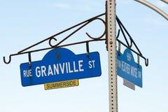 格兰维尔街在Summerside -爱德华王子岛-加拿大 库存照片
