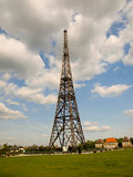 格利维采无线电铁塔 免版税图库摄影