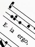 格利高里的圣歌比分缓解雷日纳,特写镜头 免版税图库摄影