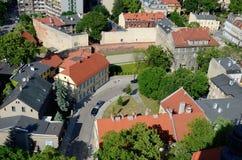 格利维采的看法在波兰 免版税库存照片