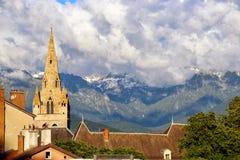 格勒诺布尔和法国阿尔卑斯 图库摄影