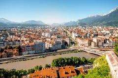 格勒诺布尔市在法国 免版税库存照片