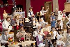 格勒诺布尔- 12月16 :传统法国人玩偶模型  免版税库存图片