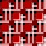 格子呢无缝的样式背景 红色,黑白格子花呢披肩,格子呢法绒衬衣样式 时髦瓦片传染媒介例证fo 免版税库存图片