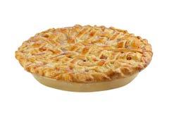 格子桃子饼顶部白色 免版税库存图片