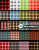 格子花呢披肩无缝的样式,包括的样式样片 免版税库存图片