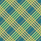 格子花呢披肩无缝的格子呢样式 对角纹理 向量例证