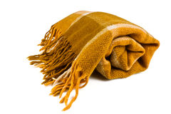 格子花呢披肩毯子 库存图片