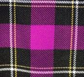 格子花呢披肩织品桃红色苏格兰人设计 免版税库存照片