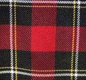格子花呢披肩织品红色苏格兰人设计 库存图片