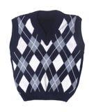 格子花呢披肩婴孩被编织的背心 图库摄影