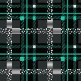 格子花苏格兰无缝的样式背景 黑色和蓝色套 法绒衬衣样式 时髦瓦片传染媒介 向量例证