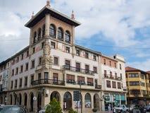 格尔尼卡,西班牙- 2018年9月:老大厦在格尔尼卡,西班牙 免版税库存照片