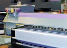 格式喷墨机大打印机 库存照片