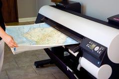 格式宽绘图员打印机 免版税库存照片