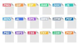 格式文件传染媒介 文件图表文件格式标志 现代图表 舱内甲板被隔绝的例证 向量例证
