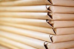 格式水平的被包装的纸张 免版税库存照片