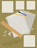 格式页学校剪贴薄 免版税库存图片