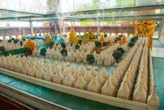 格式 Kuthodaw塔在曼德勒,缅甸 缅甸 免版税库存图片