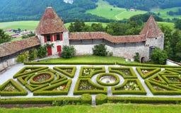 格律耶尔城堡 库存图片